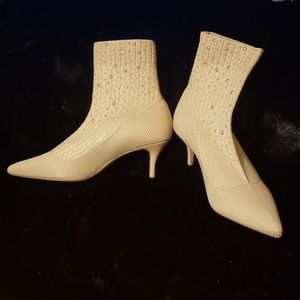 Charlie Sweater Style Studded Heeled Booties